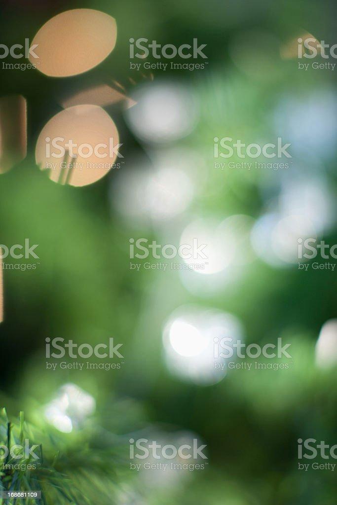 Defocused Christmas tree royalty-free stock photo