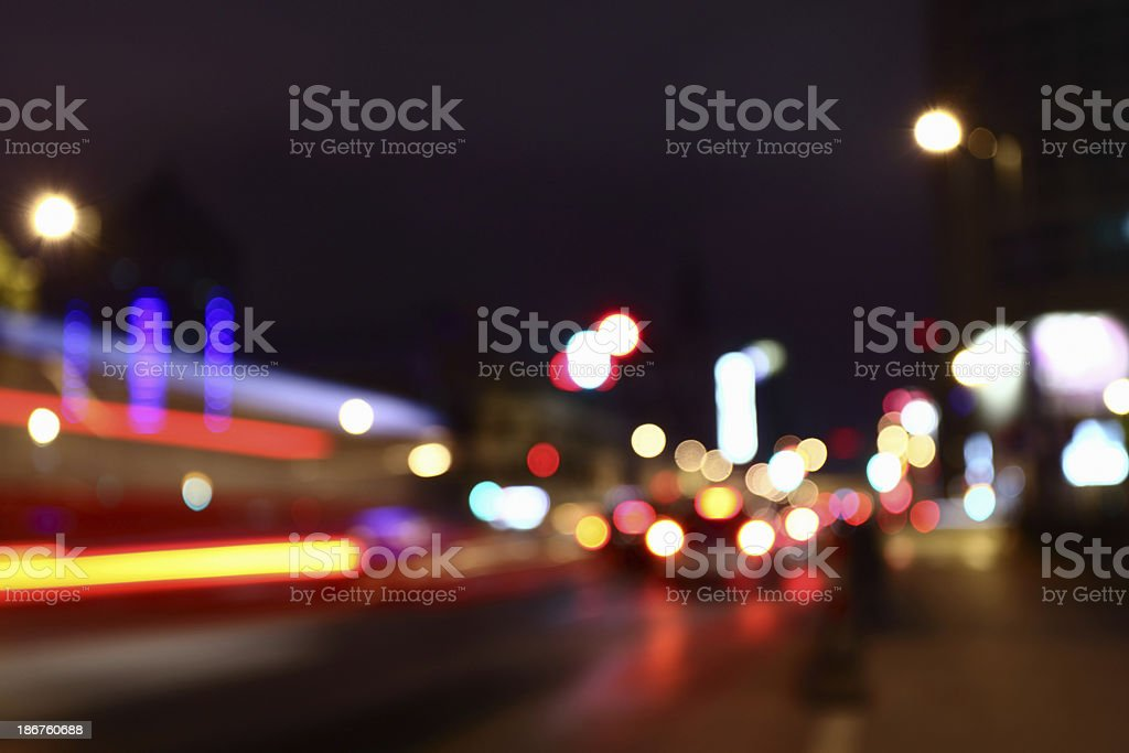 Defocused City Light royalty-free stock photo