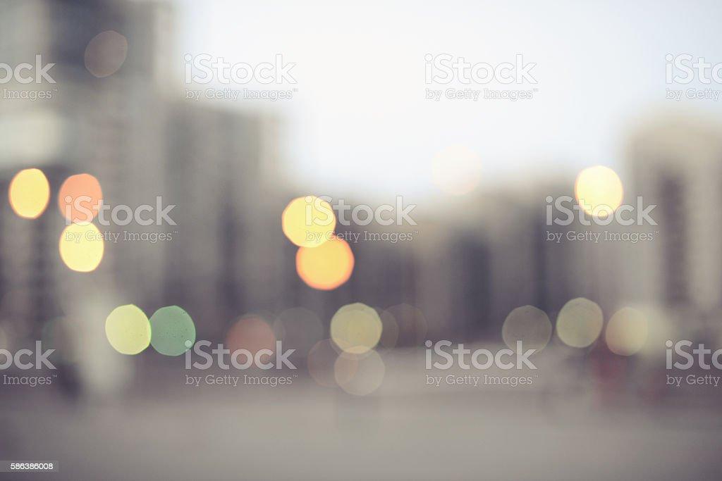 Defocused City Lights stock photo