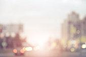 defocused city lights
