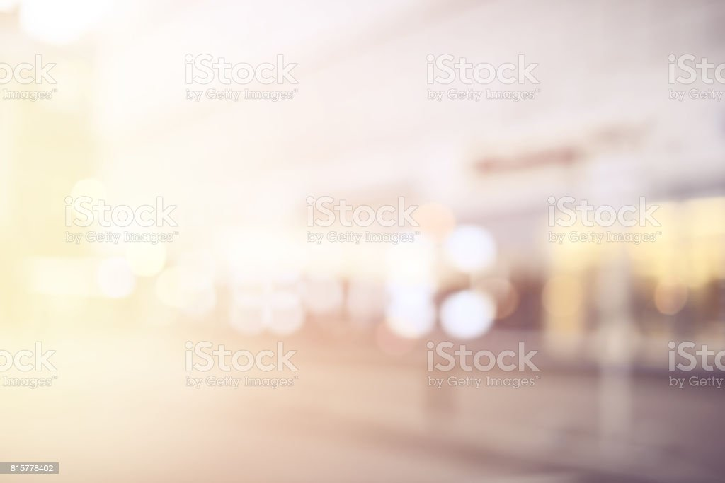 defocused city lights stock photo