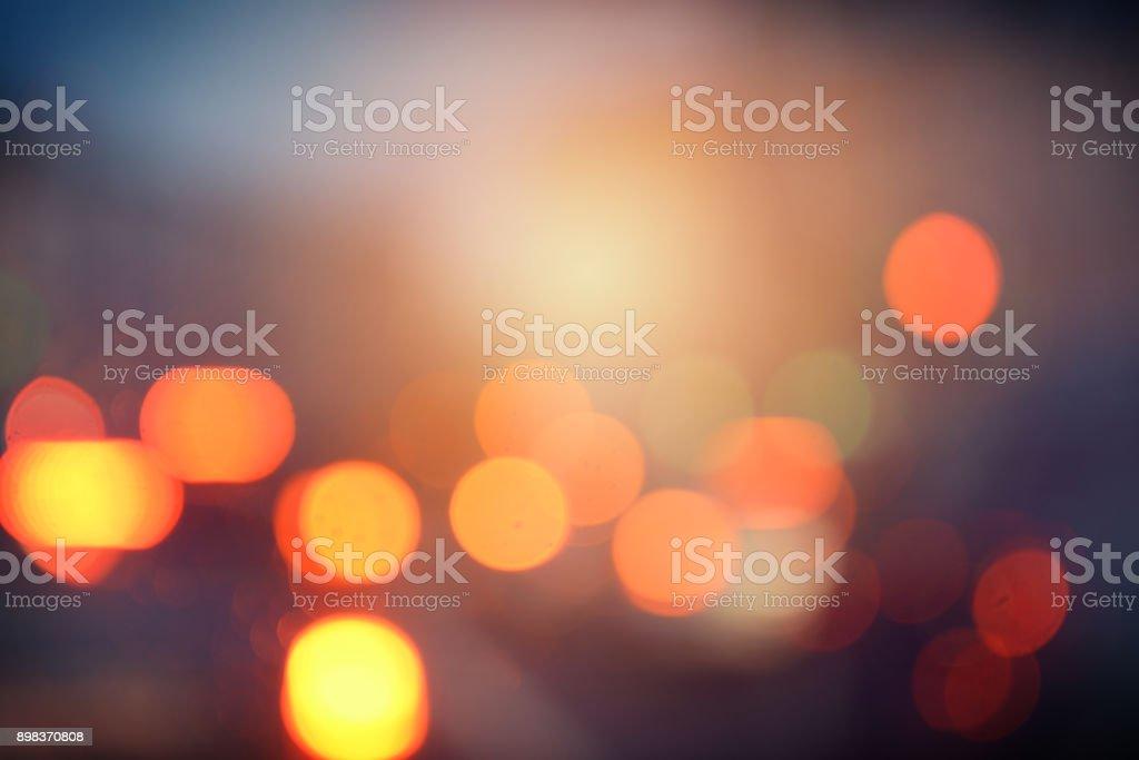 defocused city lights – zdjęcie