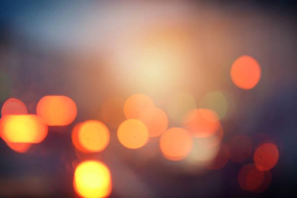 デフォーカスシティライツ - 街灯 ストックフォトと画像