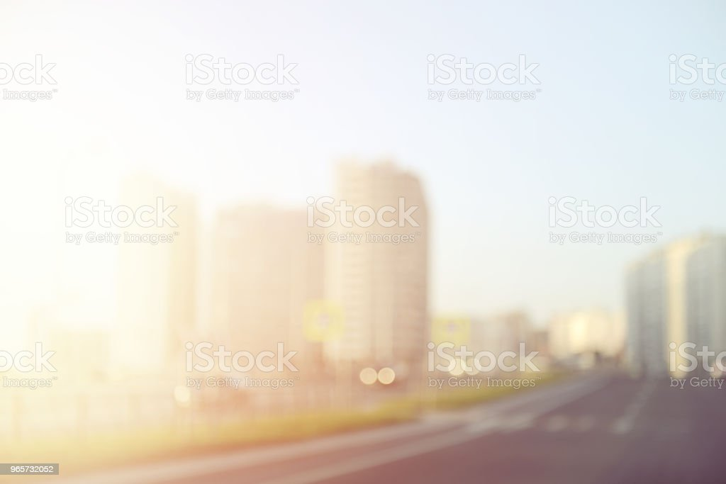 defocused city lights - Royalty-free Blurred Motion Stock Photo