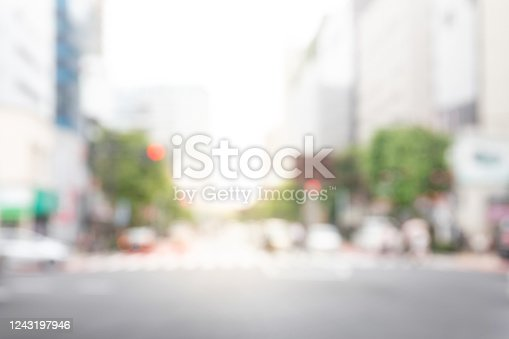 defocused city