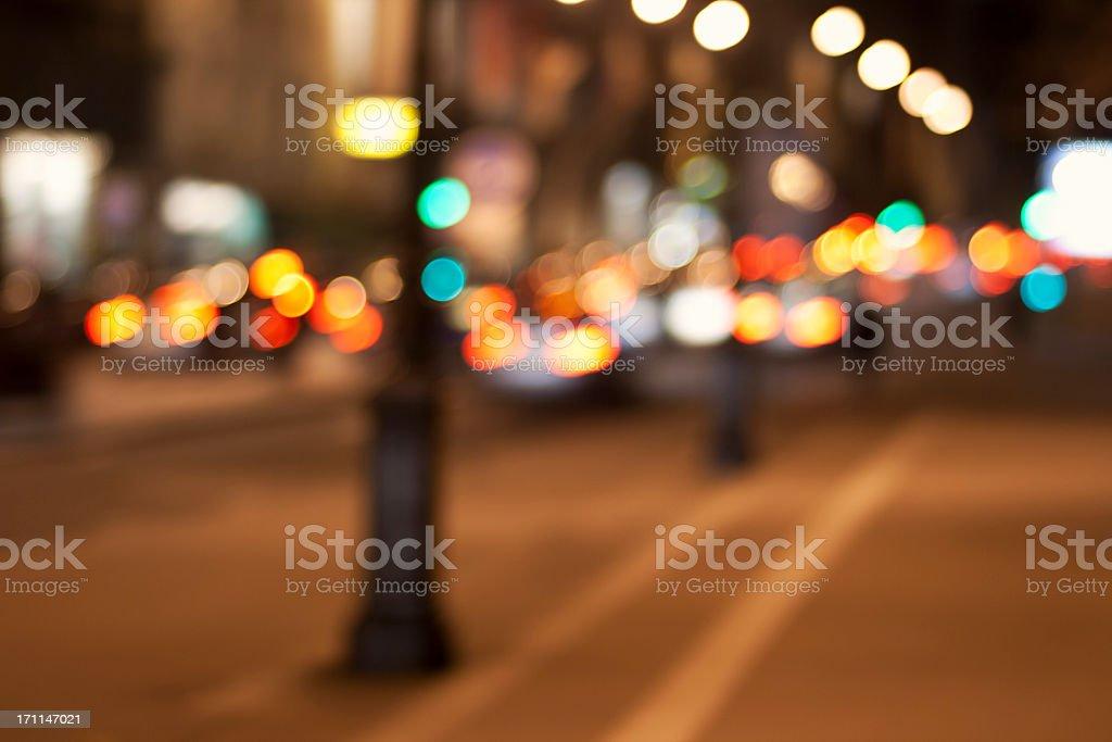 Stadt Lichter Hintergrund unscharf Straße in Paris, Frankreich – Foto