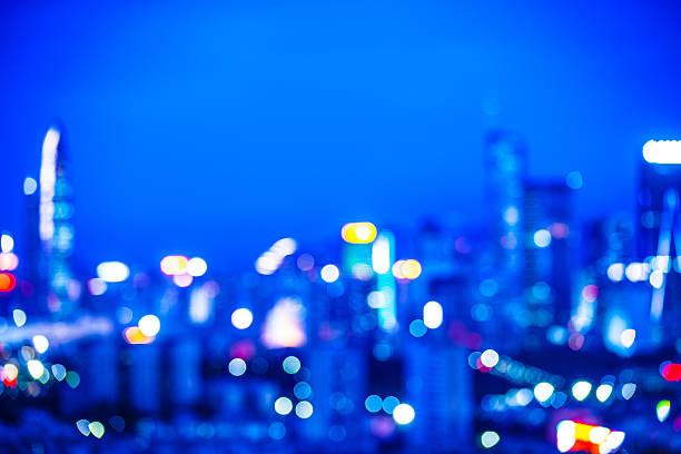 Defocused cityscape background stock photo