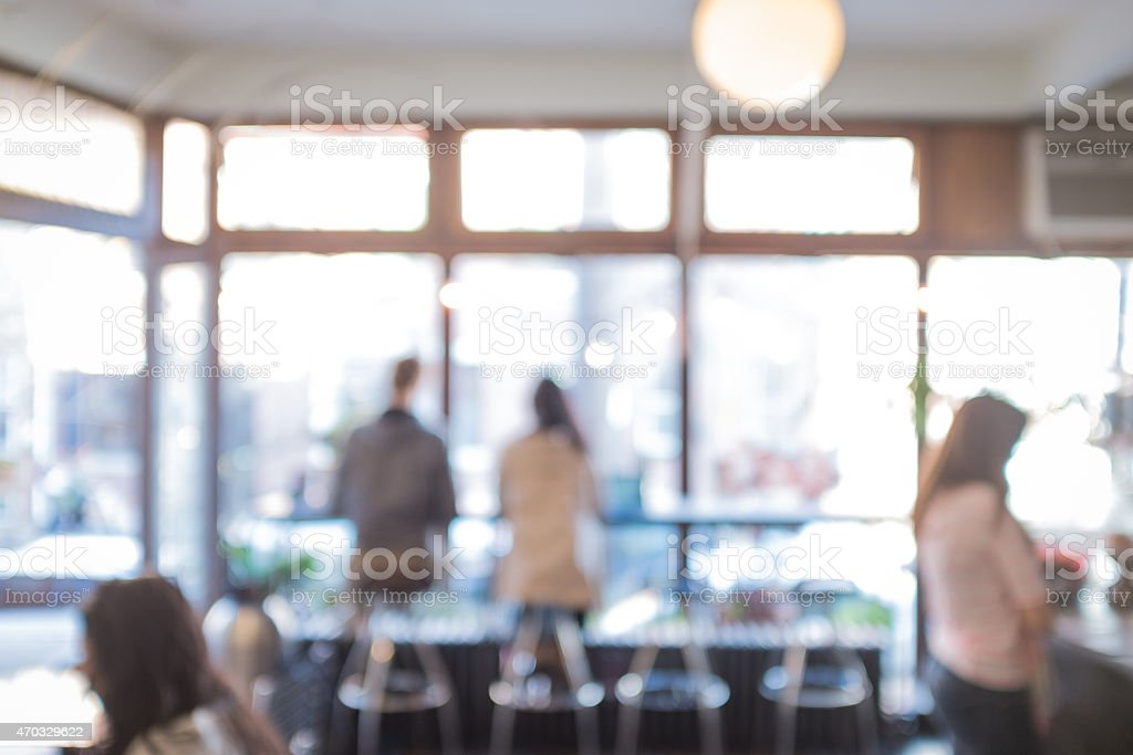 Defocused Coffee Shop Background stock photo