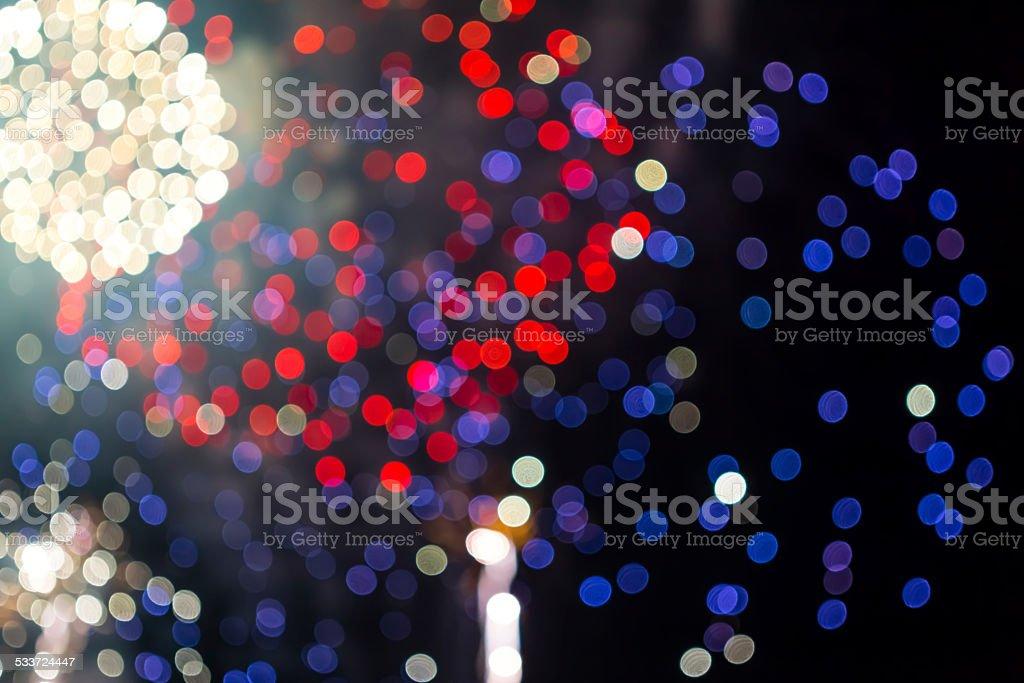 defocused coloured firework stock photo