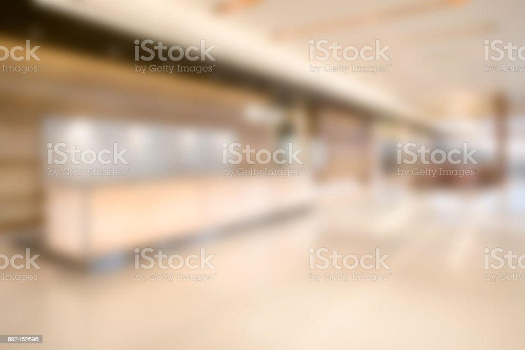Defocused Commercial Building Lobby - Business Background Wallpaper stock photo