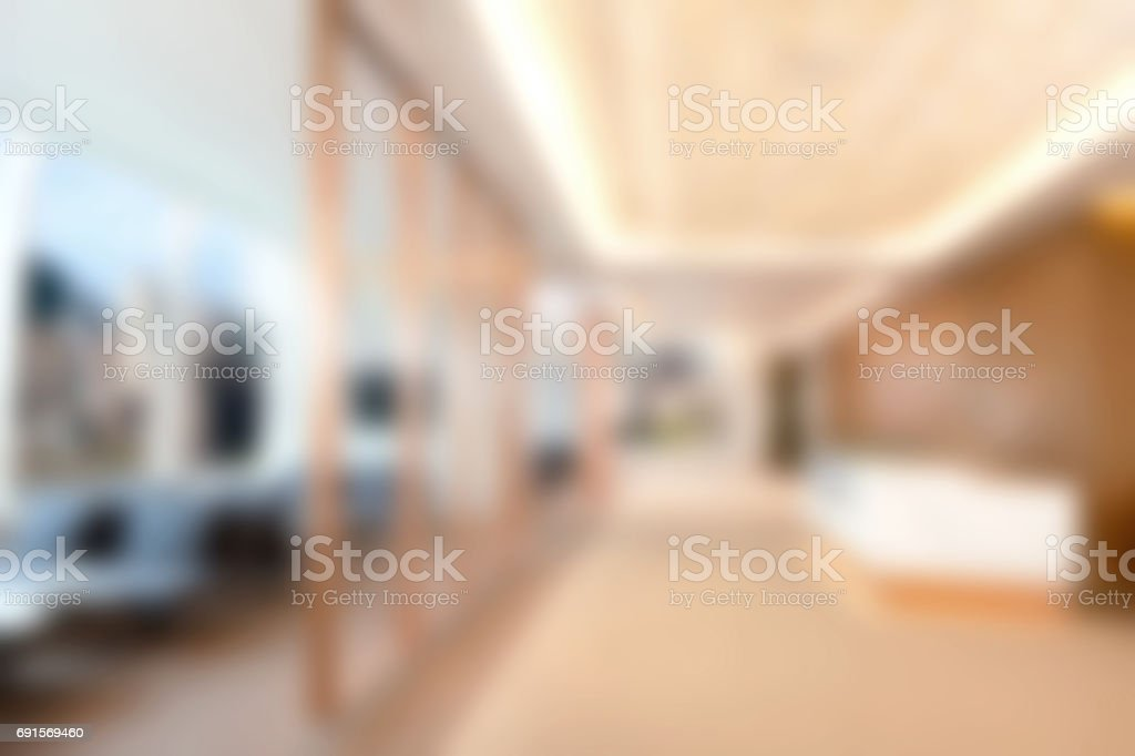 Defocused Commercial Office Interior - Business Background stock photo
