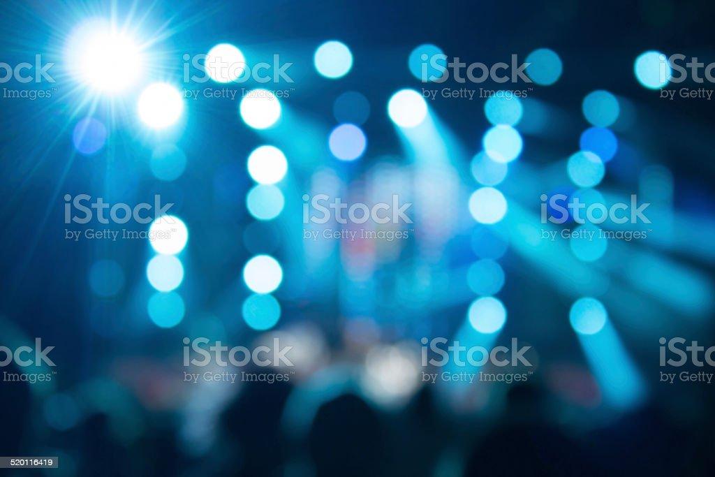 De-focused concert crowd. stock photo