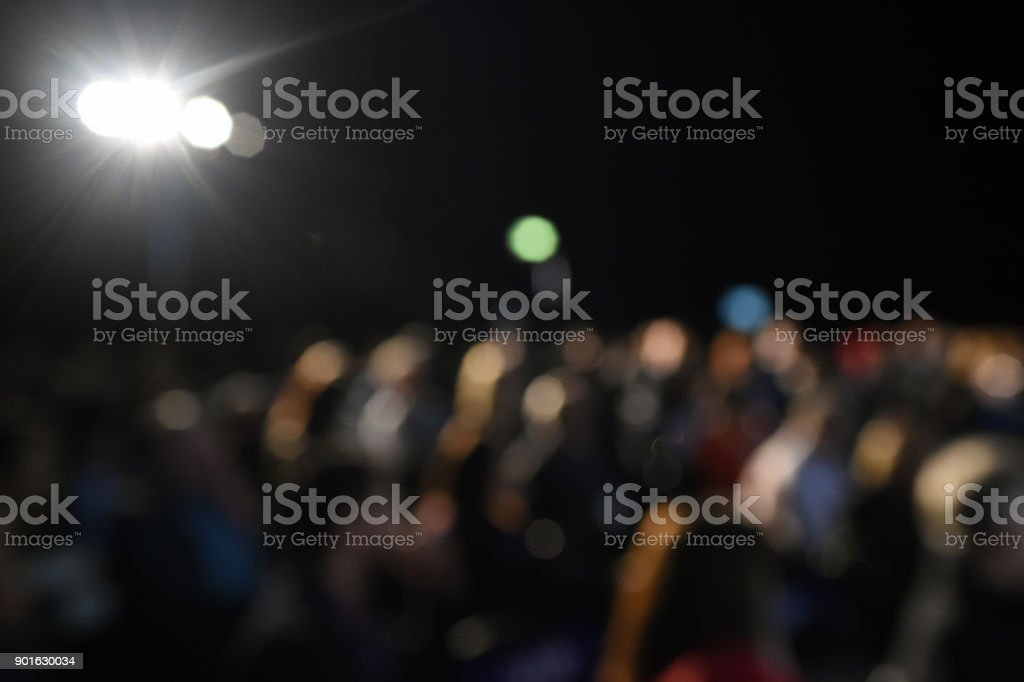 Defocused Conference Audience stock photo