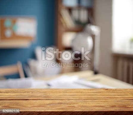 istock Defocused empty office interior 526552120