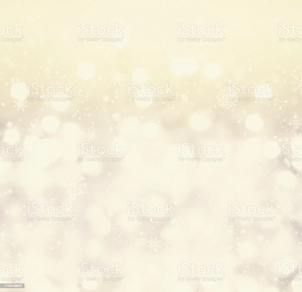 Defocused gold Bokeh light Vintage background.  Christmas back royalty-free stock photo