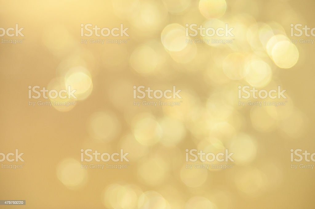 Defocused Gold Sparkles stock photo