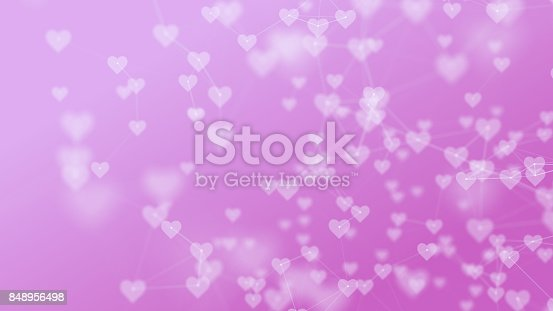 843593806 istock photo Defocused Heart Icons Over Pink Background 848956498