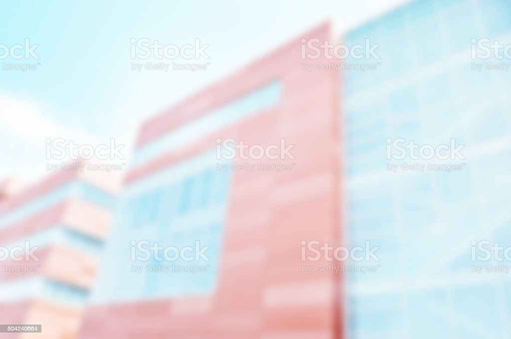 Defocused Hospital or Business Bulding Background stock photo