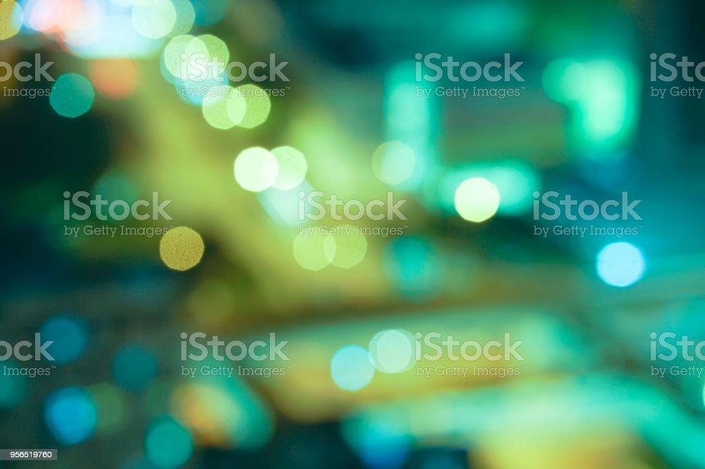 Defokussierten Bild der Stadt Licht. - Lizenzfrei Beleuchtet Stock-Foto