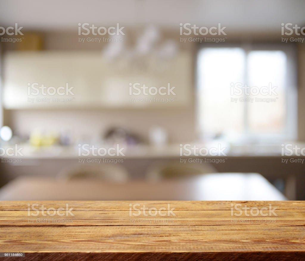 Defokussierten innen- und hölzernen Hintergrund (Küche) – Foto