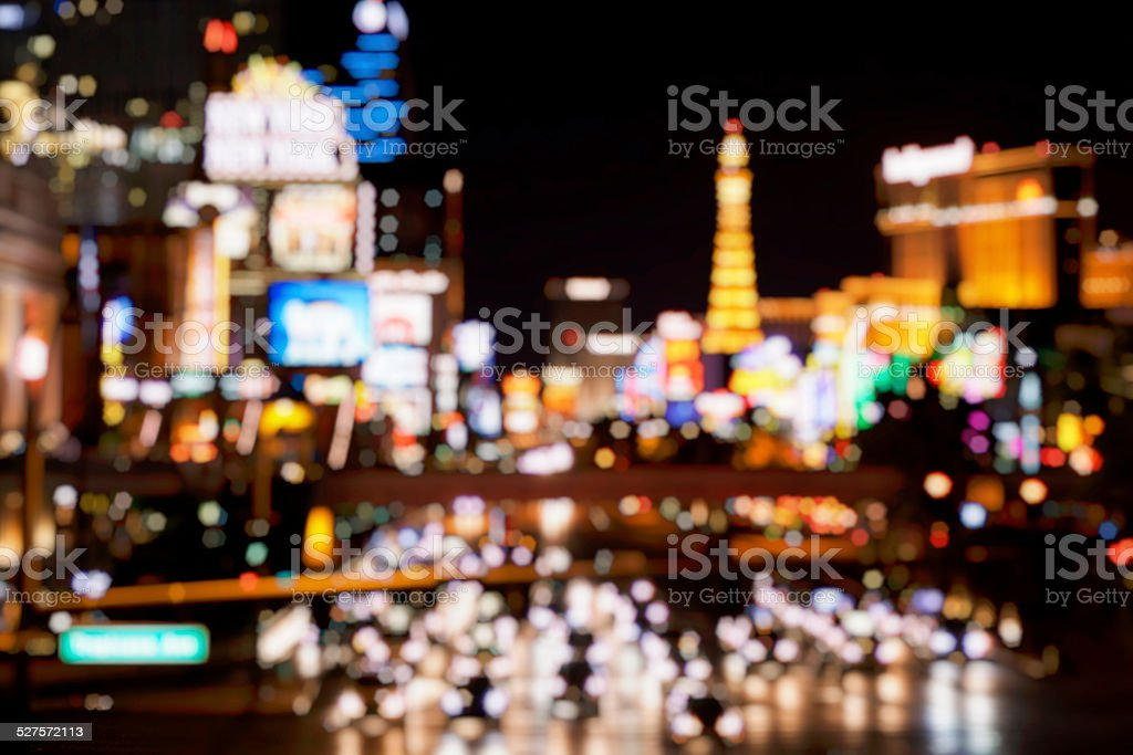 Defocused Las Vegas Strip stock photo