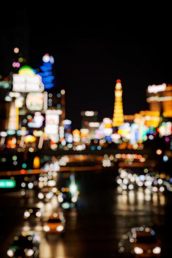 Defocused Las Vegas Strip