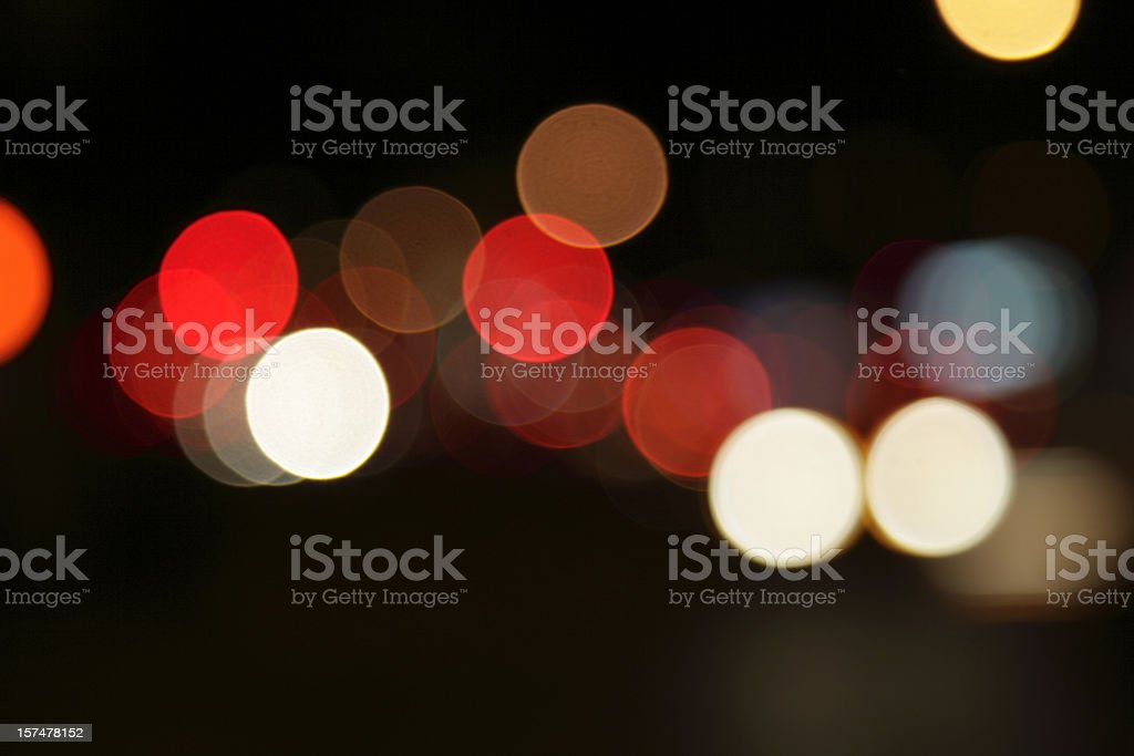 defocused light dots at manhattan traffic in twilight royalty-free stock photo