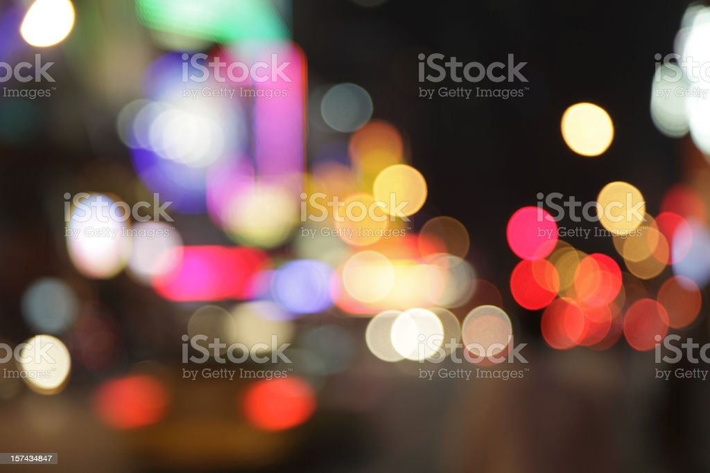 defocused light dots - new york city at night royalty-free stock photo