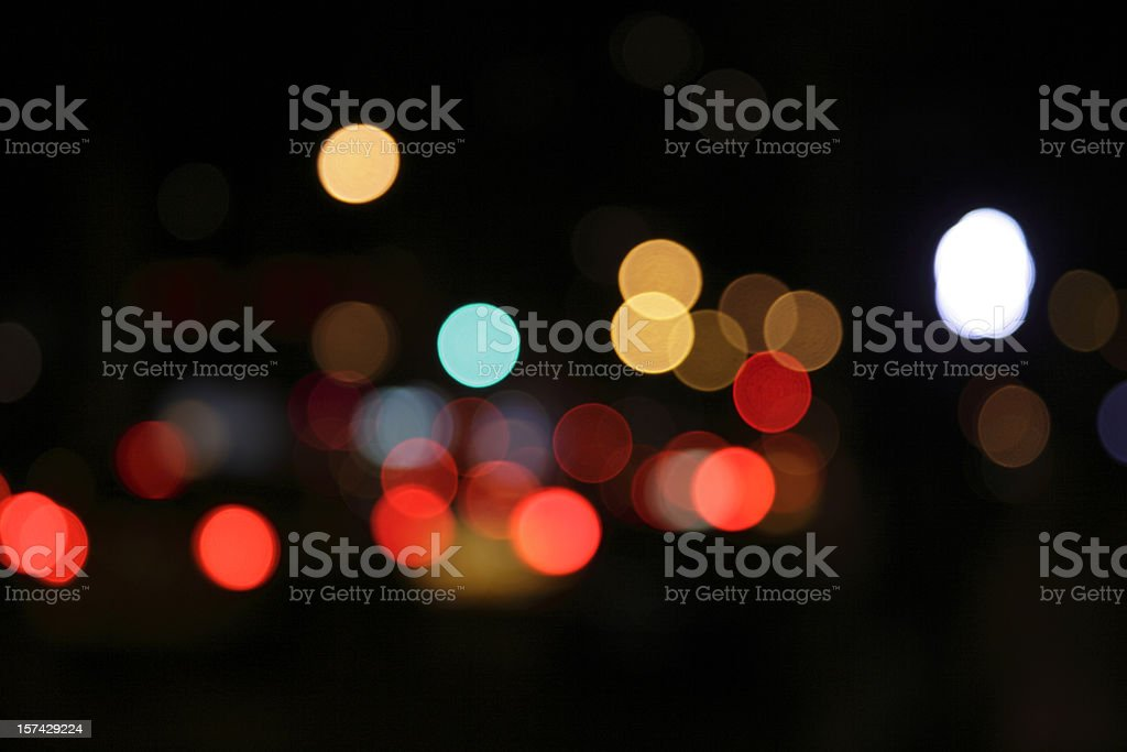 defocused light dots stock photo