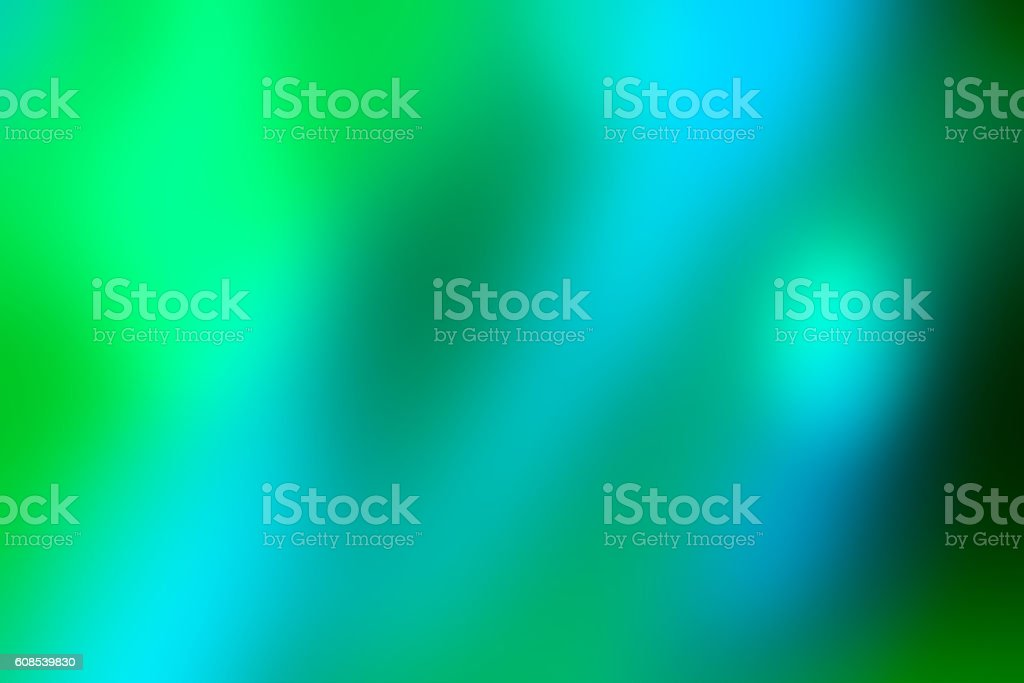 Defocused Lights Abstract Background Blue Green stock photo