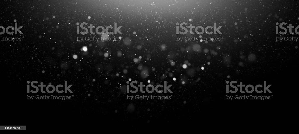 Defocused Lights Abstract Background Defocused White Lights Over Dark Background Abstract Stock Photo
