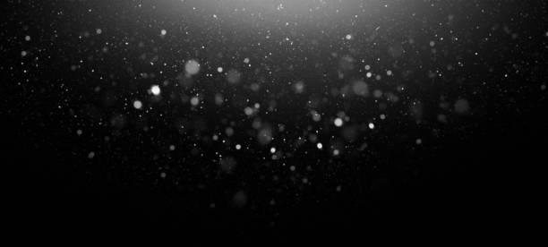 defocused lights abstract background - particles imagens e fotografias de stock