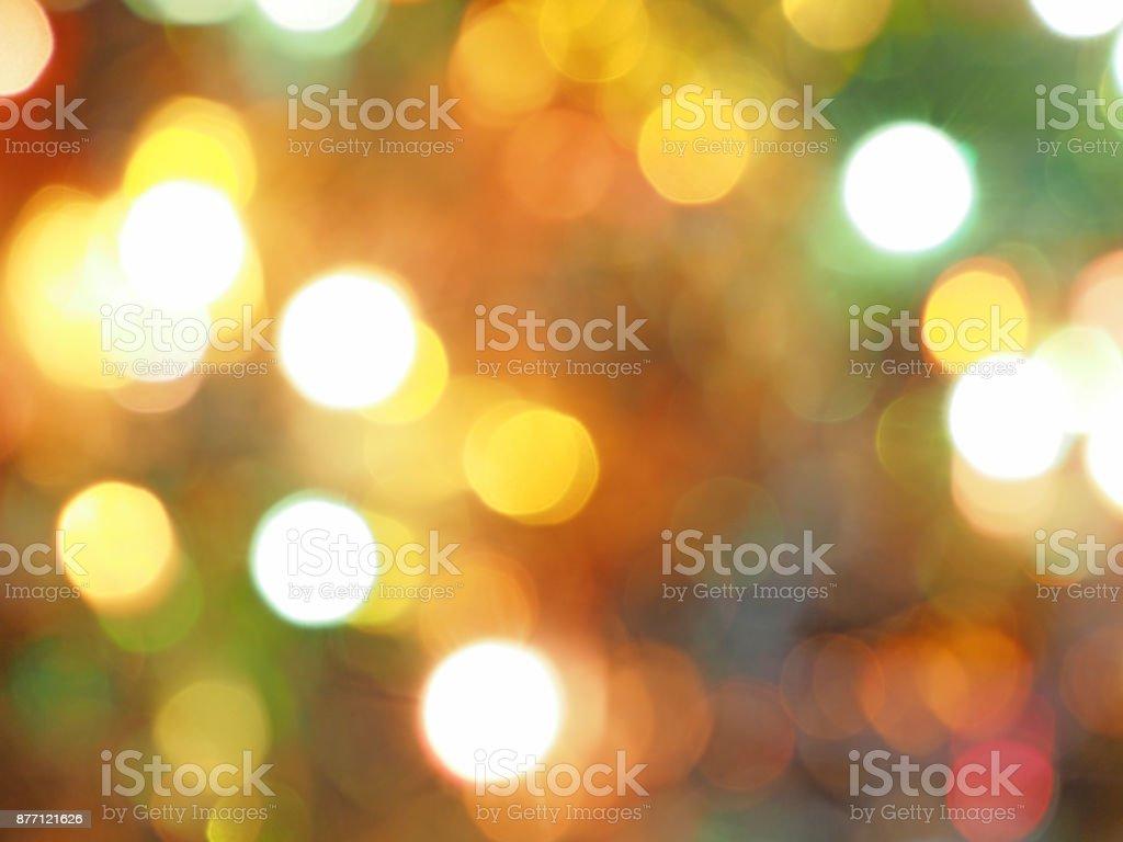 Defocused lights background. Celebratory background, glare and lights, the basis for design stock photo