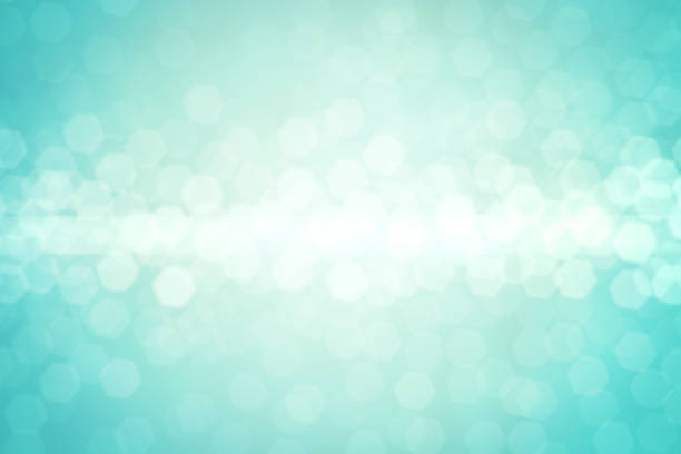 defocused lights background - teal backgrounds stock photos and pictures