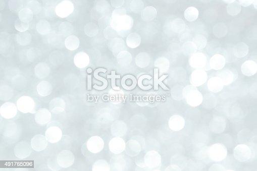 istock Defocused Lights Background Silver 491765096
