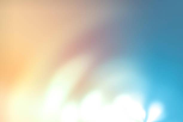 fond défocalisé lumières avec bokeh - demi cercle photos et images de collection