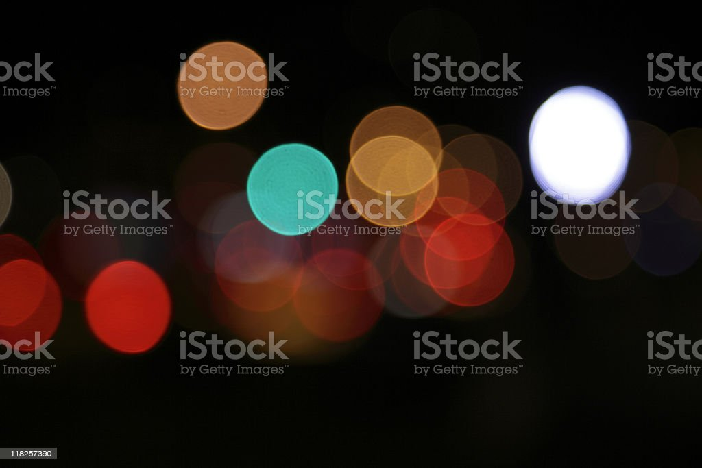 defocused lights dots at night in new york city royalty-free stock photo