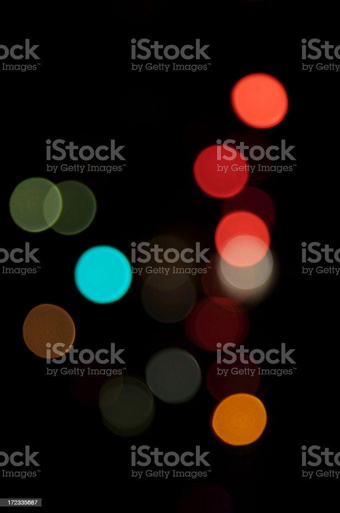 Defocused lights on black background royalty-free stock photo