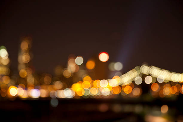 defocused lights - saturated color stock pictures, royalty-free photos & images