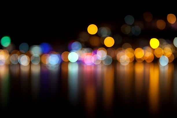 defocused lights - natural phenomenon stock photos and pictures