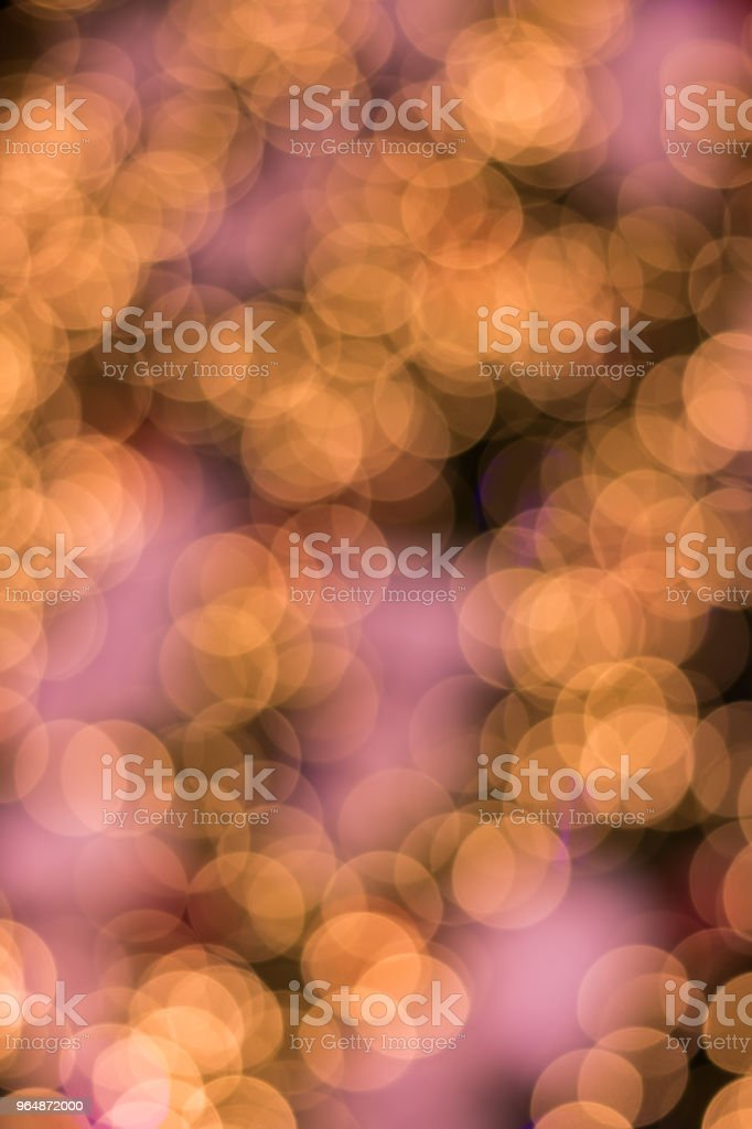 Defocused ligths of golden Christmas tree royalty-free stock photo
