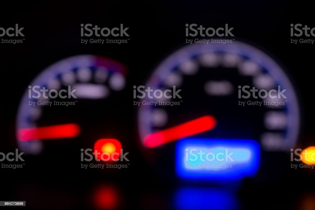 Defocused modern car dashboard. Bokeh background. Concept of drunkenness driving. royalty-free stock photo