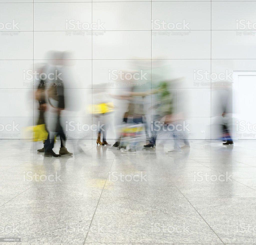 defocused moving crowd royalty-free stock photo