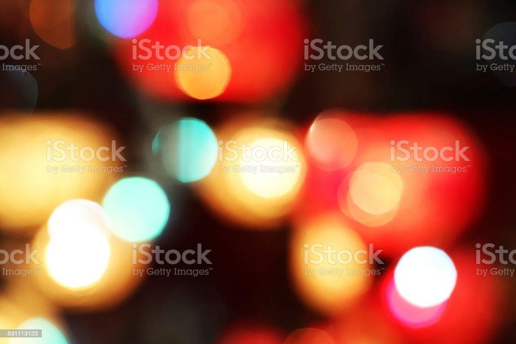 Defocused multi colored light dots stock photo