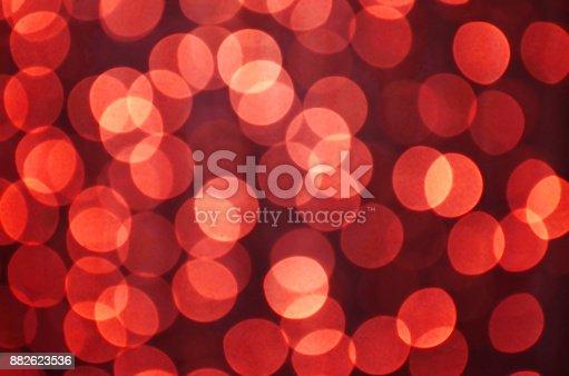 istock Defocused Multi Colored Lights. Christmas lights 882623536