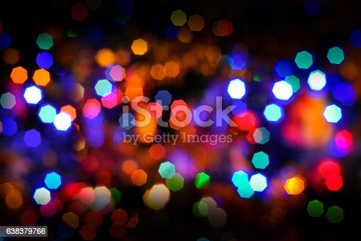 617566268 istock photo Defocused (Bokeh) Multi Colored Lights 638379766