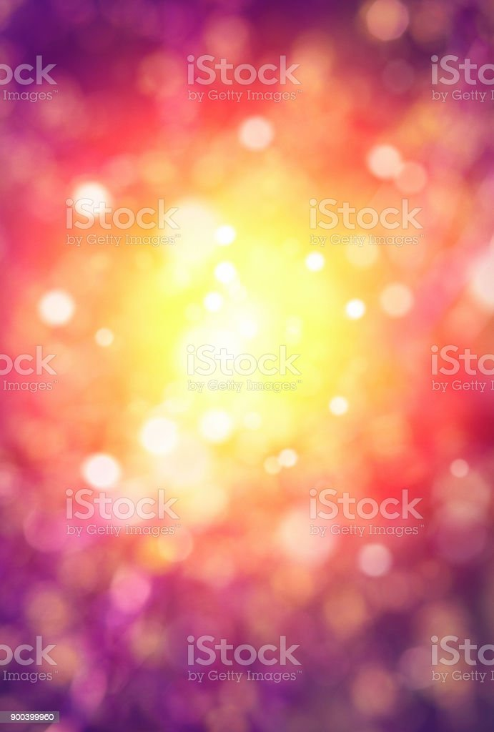 Defocused multicolor background with light spots stock photo