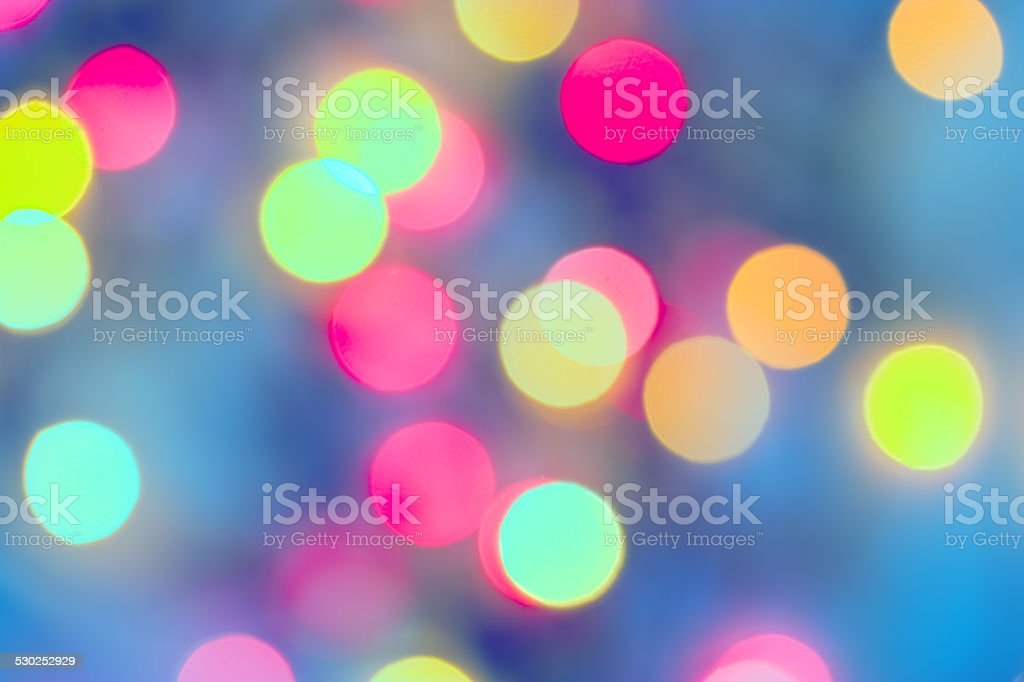 Defocused night light on street stock photo