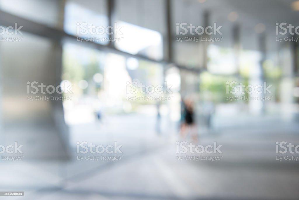 Defocused Office Building Lobby Background stock photo