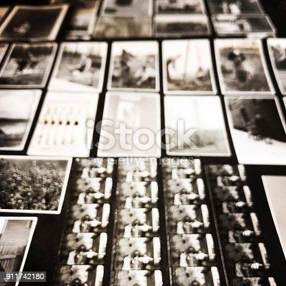istock Defocused Old Photos from Below 911742180